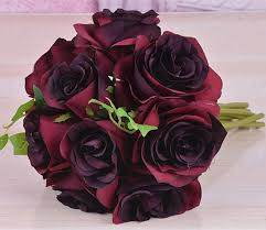 silk roses burgundy flower bouquet silk flower bouquet