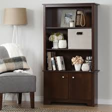 Bookcase With Doors White by South Shore Vito 3 Shelf Bookcase With Doors Walmart Canada