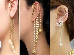 cuff earrings and trendy chain link ear cuff earrings new arrivals