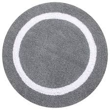Round Bath Rugs Hotel Collection Reversible Solid Bath Rug Contemporary Bath