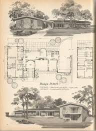 Best Mid Century Blueprints And Home Design Images On Pinterest - Mid century modern home design plans