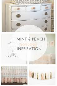 mint u0026 peach nursery inspiration squishy cheeks u0026 cupcakes