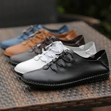 sell like cakes men casual flat shoes 100 cowhide variety