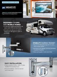 amazon com mount it rv tv mount lockable full motion tv wall