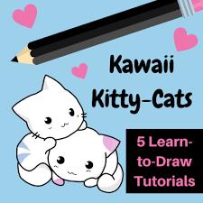 learn draw kawaii cats kawaii