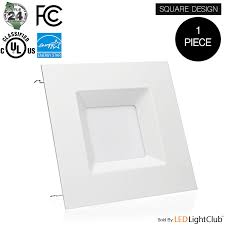 1 pack 6 inch led square downlight trim 15w 100w replacement