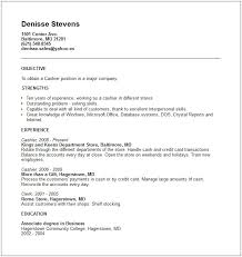 A Good Objective For A Job Resume by Resume Cashier Example Resume Cv Cover Letter Cashier Sample