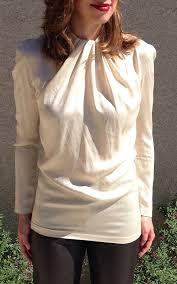 ivory silk blouse minimalist silk blouse 80s avant garde silk ivory blouse high