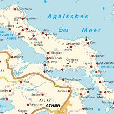 Map Greece by Island Map Euboea Central Greece Greece Maps And Directions At