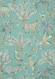 Home Interior Design Goa Goa Teal T88723 Collection Trade Routes From Thibaut Trade