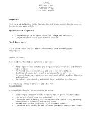 resume template objective on for first job campus student high