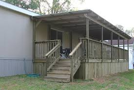 home deck plans covered deck plans for mobile homes home design ideas