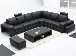Black Leather Sofa Texture Living Room Stunning U Shaped White Modern Leather Chaise