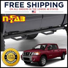 nerf car n fab drop step nerf bars 3 u0026 034 gloss black for nissan titan