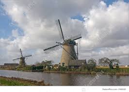 picture of dutch windmills