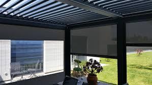 brise vent transparent store vertical exterieur toile pvc crystal transparente pour pergola