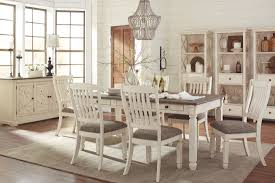bolanburg white and gray rectangular dining room set from ashley