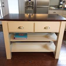 ana white rustic x small rolling kitchen island diy projects showy