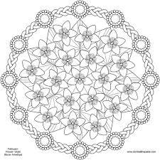 spring flower mandala coloring pages pattern mandala free