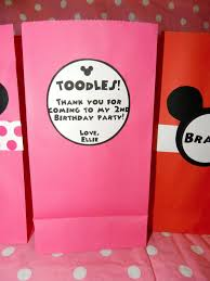 mickey mouse favor bags addicted 2 mickey minnie mouse themed birthday party