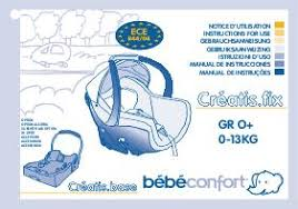 notice siege auto bebe confort notice bebe confort creatis fix mode d emploi notice creatis fix
