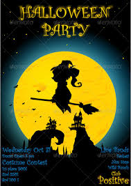 halloween party poster party poster club flyers and vector design