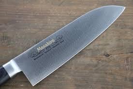 masahiro molybdenum steel santoku japanese chef knife 175mm