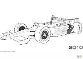 dale coyne racing bsa 2010 indy car coloring page free printable