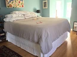 Bed Frame Skirt Classic Bedskirt Simple Linen Bedskirt Linen