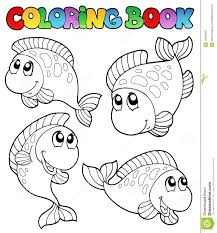coloring book fishes royalty free stock photography