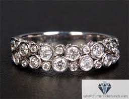 set diamond bezel set diamond motif wedding band or ring