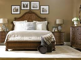 Bedroom Sets With Media Chest Stanley Stanley Furniture Villa Fiora Traditional Queen Wood Panel