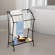 Floor Towel Racks For Bathrooms by Standing Towel Rack Ebay