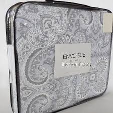 Gray Paisley Duvet Cover Gray Duvet Queen Set Paisley Silver White 100 Cotton Envogue 3