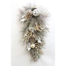 admiredbynature metallic pine cone ornament berry cedar