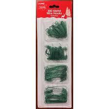 300 green metal wire ornament hanger hooks tree