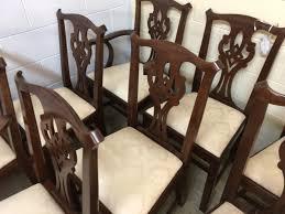 henkel harris dining room henkel harris mahogany 101 chairs chippendale set of 8 sold