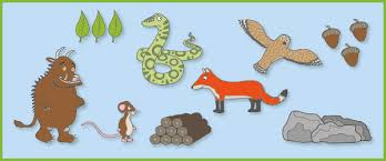 the gruffalo u0027 story prompts cut outs free early years