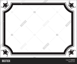 scroll border ornament frame vector photo bigstock