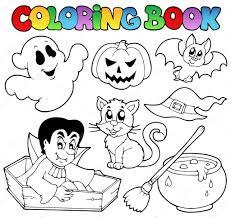 coloring book halloween cartoons 1 u2014 stock vector clairev 6775348