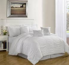 Ruffled Bed Set Contemporary Simple Bedroom Decor With Cal King White Ruffled