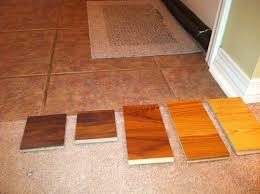 kitchen tile and laminate wood contrast