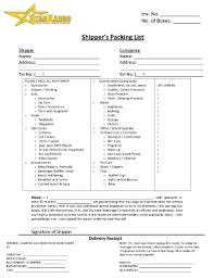 packing list form packing list template forms fillable u0026 printable samples for pdf
