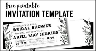free invitations templates party invitation templates free printables paper trail design