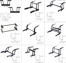 outdoor furniture metal coffee table mechanism lifting frame