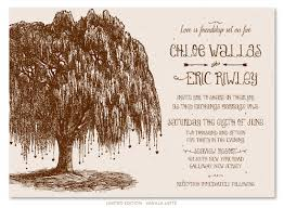 tree wedding invitations on seeded paper weeping willow by