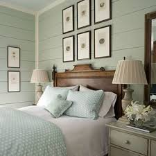 bedroom cozy coastal bedroom idea with brown wooden bed frame and
