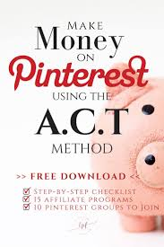 Resume Affiliate Manager Make Money On Pinterest Fast Using The A C T Method My Affiliate