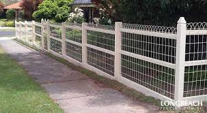 sheep wire fences with ornate patterns are a transitional style