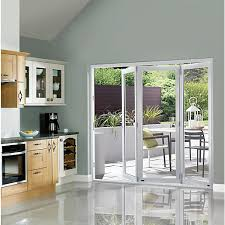 Bifold Patio Doors Wickes Burman Slimline Finished Bi Fold Door Set White Wickes Co Uk